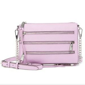Rebecca Minkoff Mini Zipper Leather Crossbody Bag